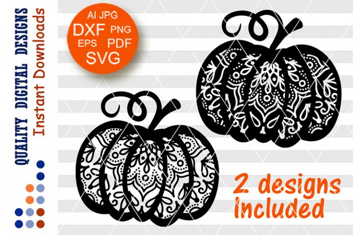 Bundle Thanksgiving decor Mandala Zentangle Pumpkin SVG
