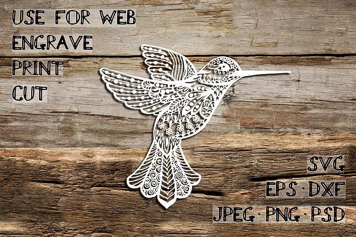 Colibri Template | SVG DXF EPS PSD PNG JPEG