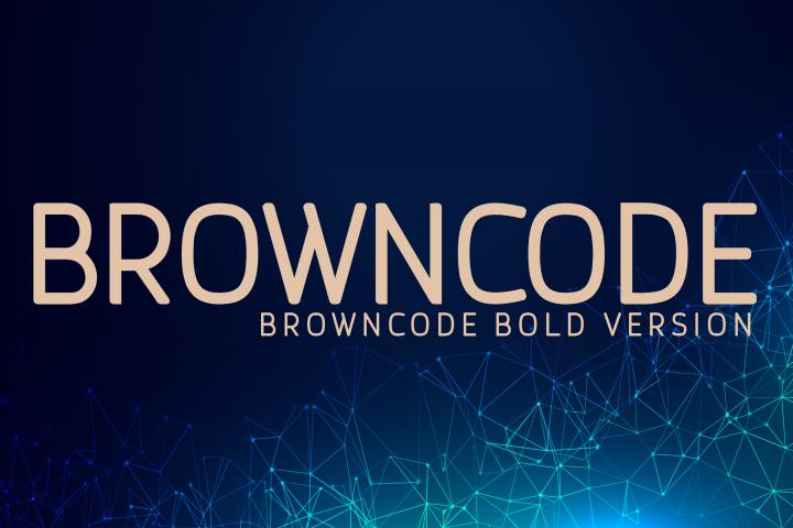Browncode Bold Versionl Elegant font sans serif