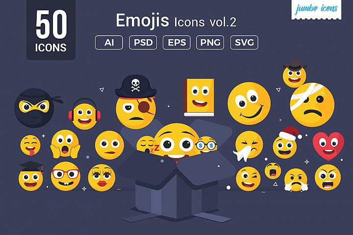 Emojis / Smiley Vector Icons V2