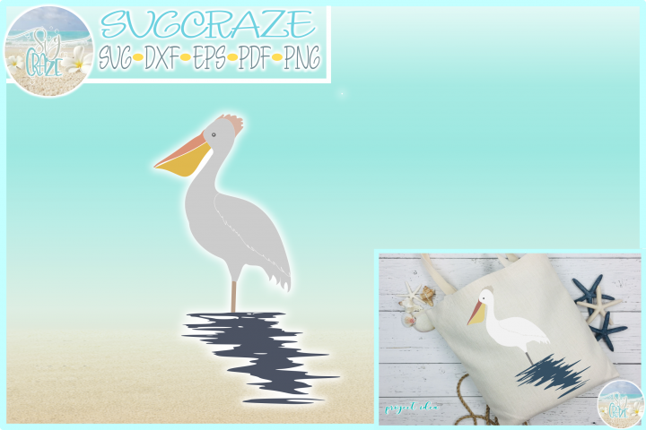 Pelican SVG Dxf Eps Png PDF