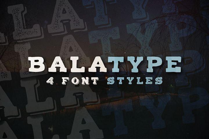Balatype - 4 Hand Drawn Fonts