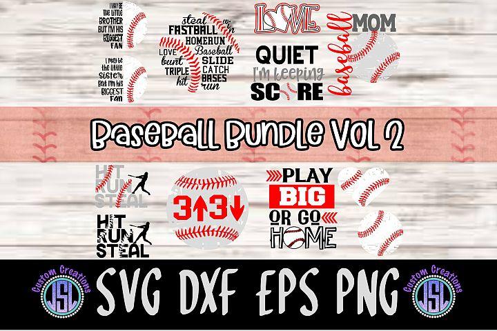Baseball Bundle Vol 2 | Set of 12 | SVG DXF EPS PNG