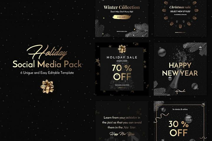 Holiday Social Media Pack vol.1