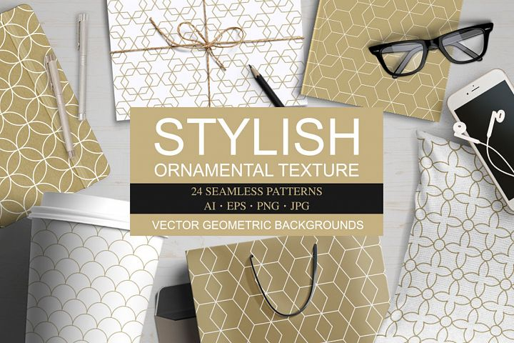 Vector ornamental seamless patterns
