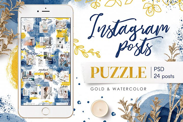 Instagram Puzzle Template - 24 Posts
