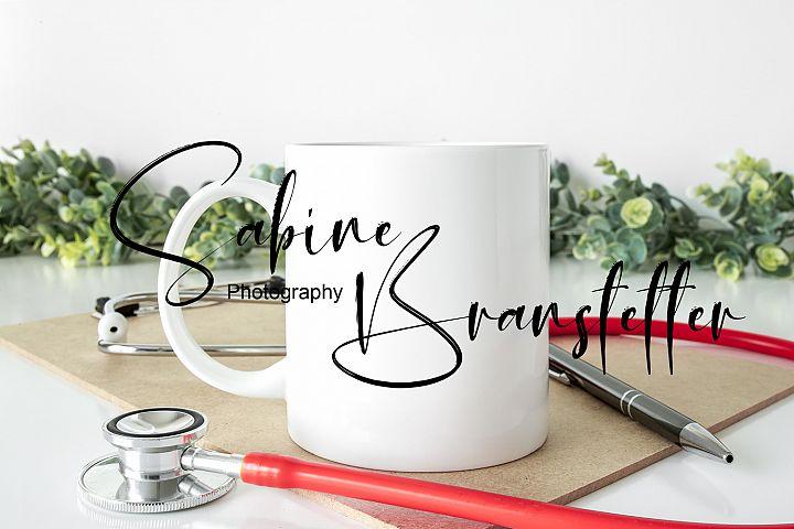 Styled Stock Photo 11oz White Coffee Mug Nurse/Doctor Mockup
