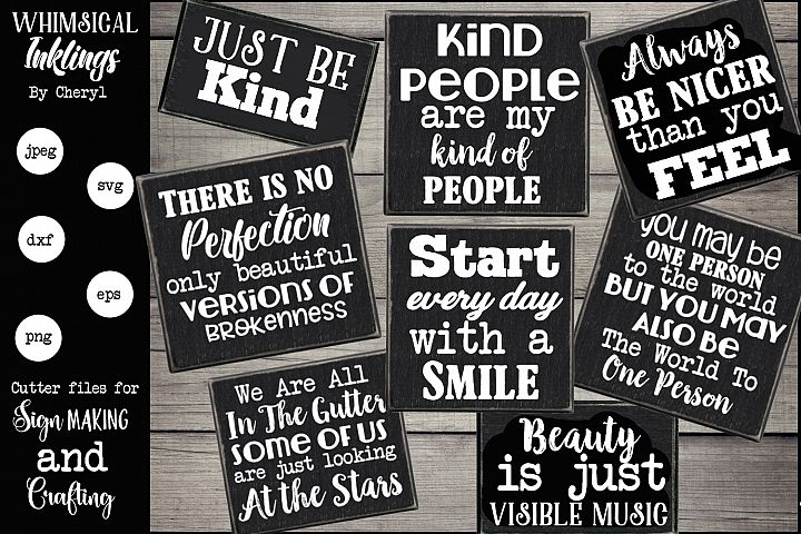 Always Be Nice SVG Bundle
