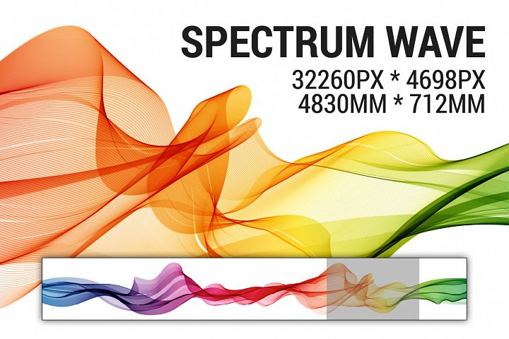 Abstract vector spectrum wave background