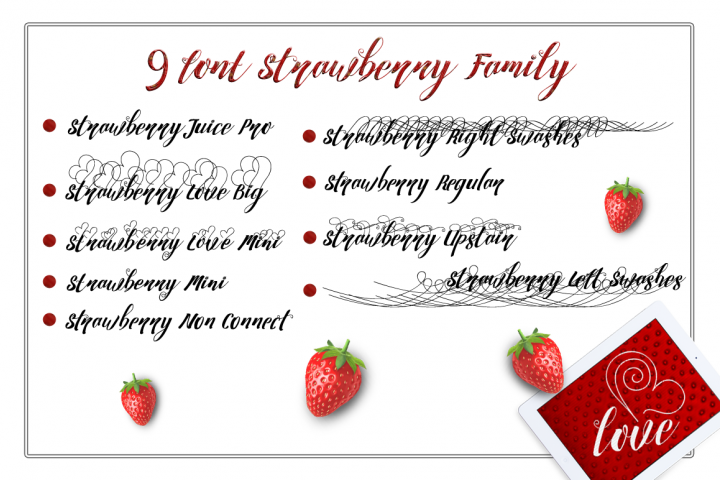 Strawberry Family - Free Font of The Week Design 1