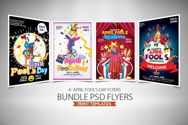 4 Aprils Fool Day Flyers Bundle
