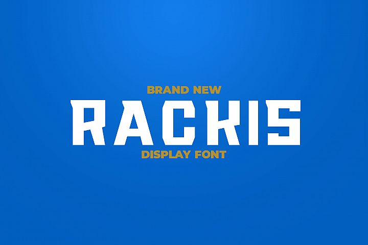 RACKIS Display Font