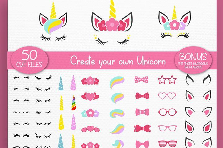 Unicorn svg - Unicorn Kit Svg - Create your own - Cut files