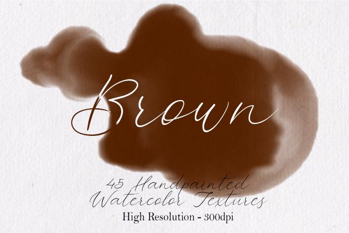 Brown - 45 Watercolor Textures