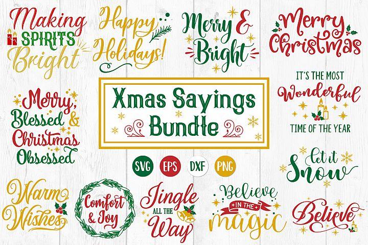 Christmas Quotes Bundle, Christmas Svg