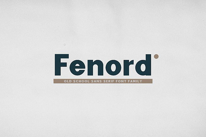 Fenord - Old School Sans Serif