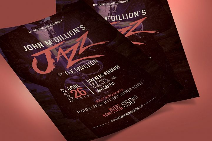 Jazz Concert Flyer Poster Template