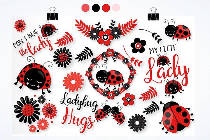 Little ladybug graphics and illustrations - Free Design of The Week Design1