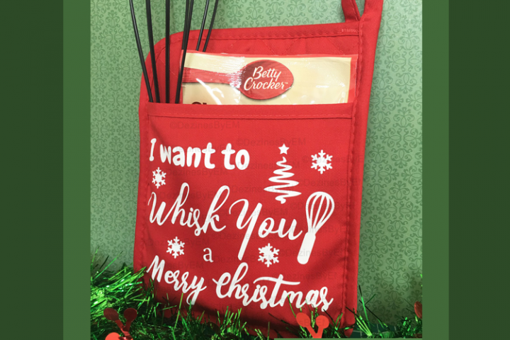 I want to whisk you a Merry Christmas SVG Pot Holder Design