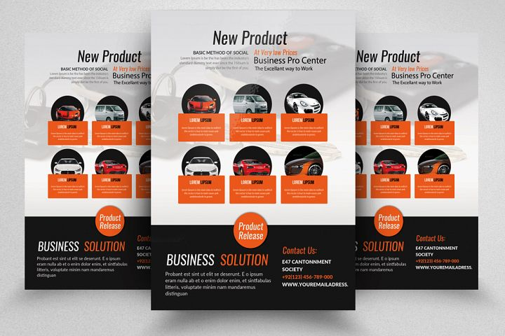 New Car Business Flyer Template