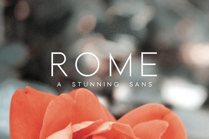 Rome | A Stunning Sans Serif