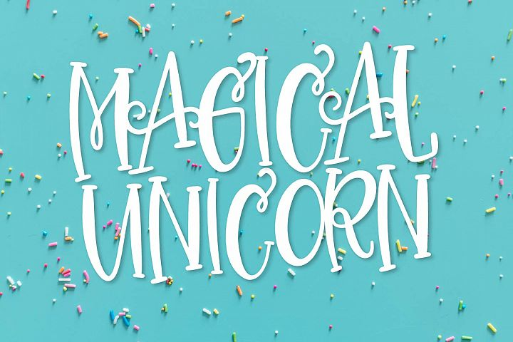 CLN - Magical Unicorn - A Hand Lettered Duo With Extras