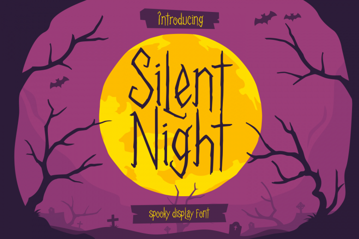 Silent Night - Spooky Font