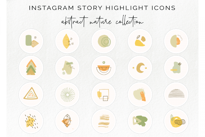 20 Instagram story highlight icons - abstract nature icon