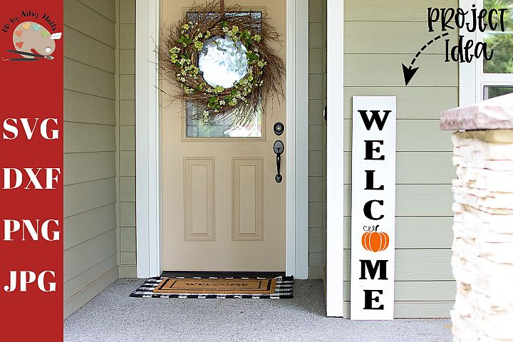 Welcome Pumpkin Front Porch Wood Sign svg, home decor svg