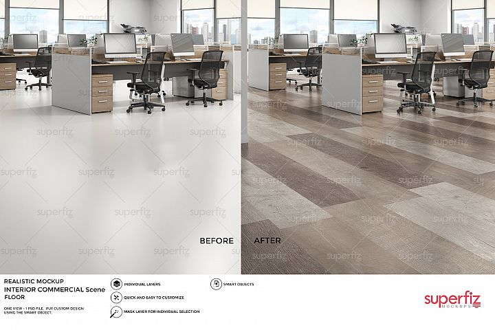Commercial PSD Mockup to change FLOOR surface SM41