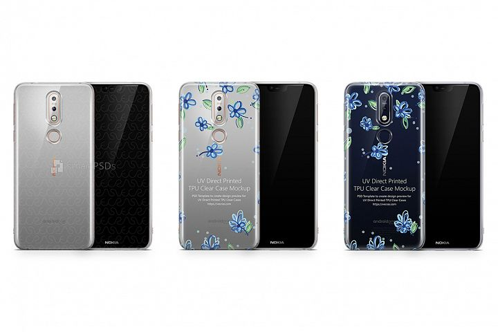 Nokia 7.1 UV TPU Clear Case Mockup 2018