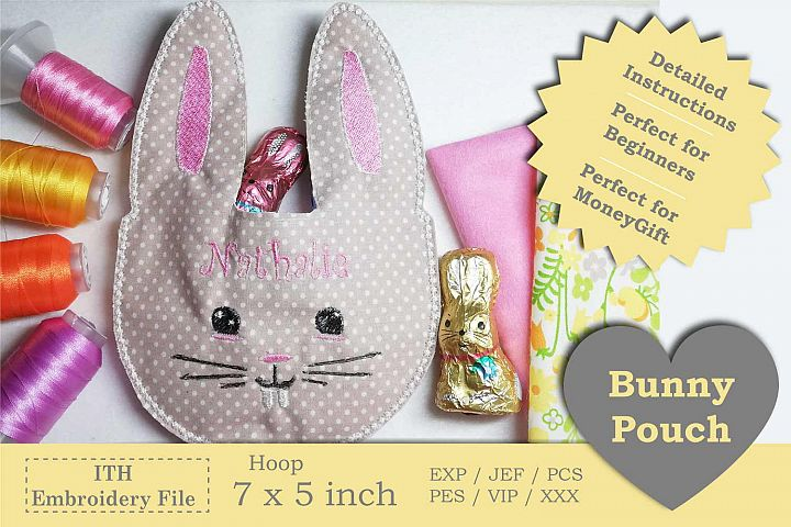ITH - Bunny Pouch - Great idea for last minute gift