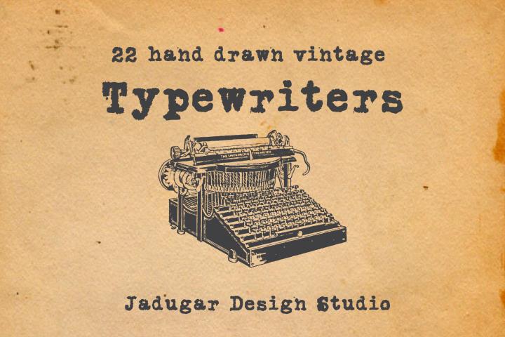22-hand drawn typewriters