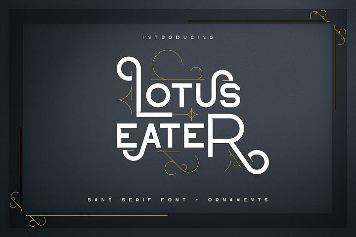 Lotus Eater - sans serif font