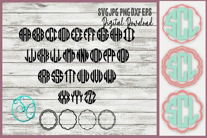Circle Monogram Svg files plus Frames