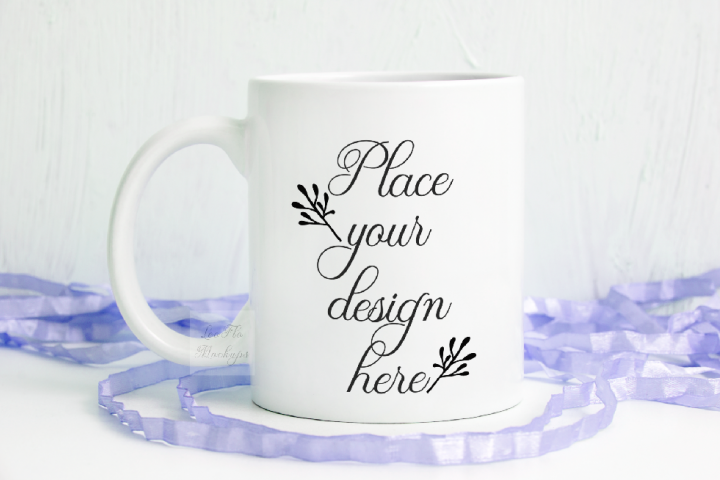 Spring easter Mockup mug template white coffee cup psd mock