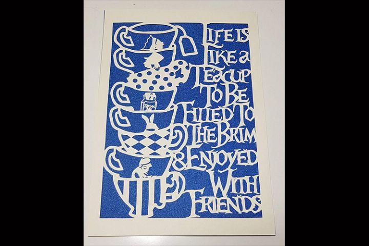 Wonderland inspired Life is like a teacup template