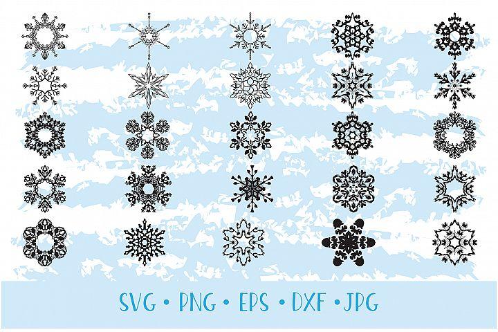 Christmas Decor Snowflake Clipart snowflake silhouette example 3