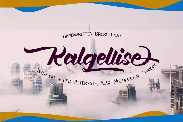 Kalgellise Handwritten Brush Font