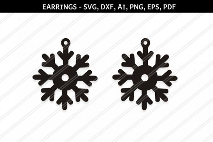 Christmas Snowflakes svg,Snow flakes svg,Snowflakes earrings