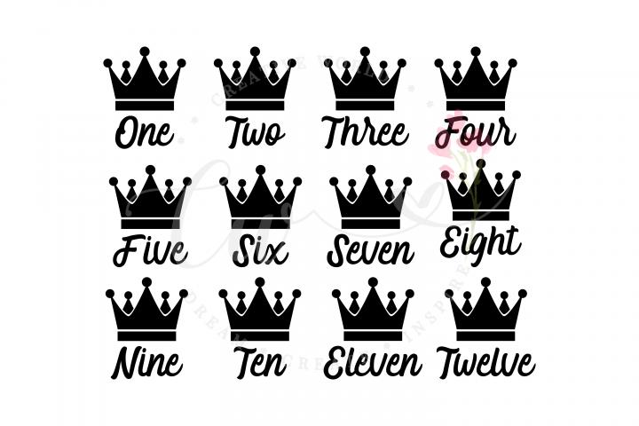 Babys First Year Monthly Milestone svg | King Crown svg