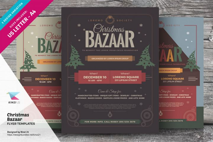 Christmas Bazaar Flyer Templates