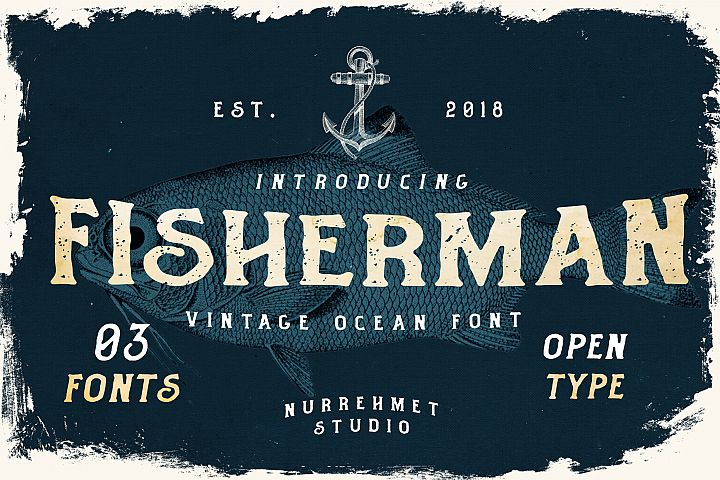 Fisherman - Vintage Ocean Font