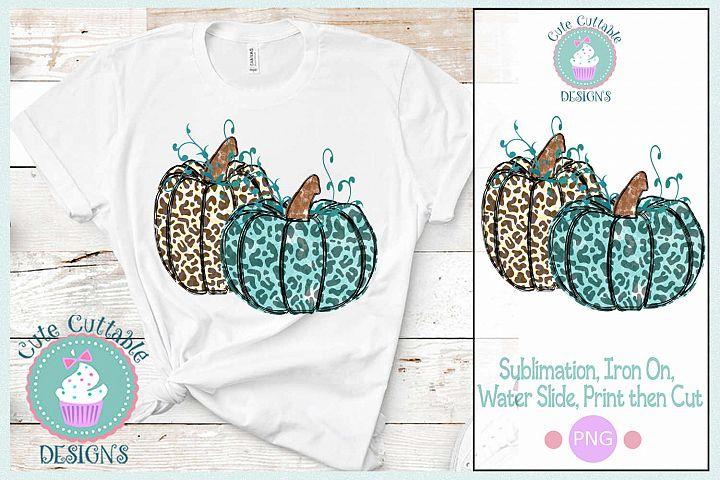 Sublimation Leopard Pumpkin Design PNG Fall Print