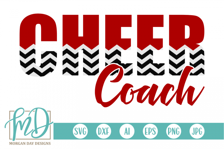 Cheer Coach - Cheerleader SVG, DXF, AI, EPS, PNG, JPEG