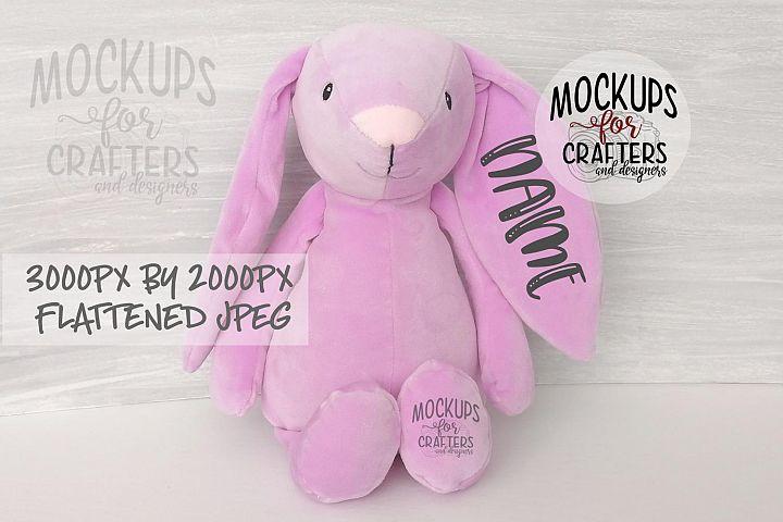 Canadian Dollarama Bunny - Mauve - Mock-Up - Easter, Nursery