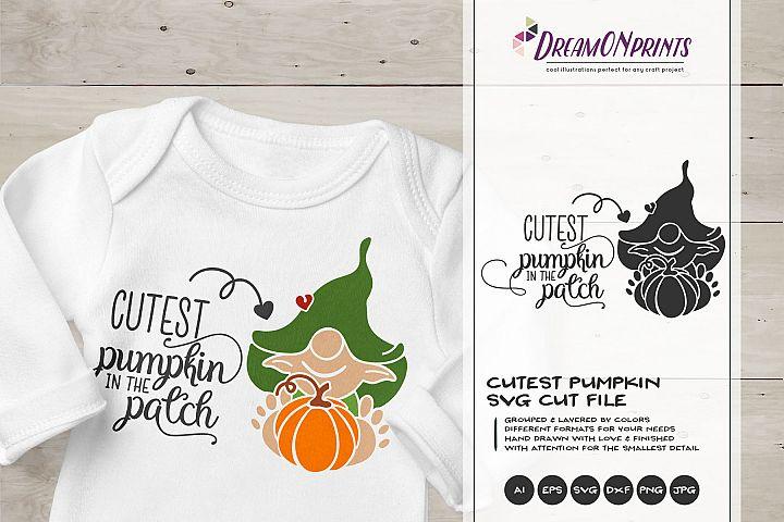 Cutest Pumpkin | Funny Fall SVG | Children SVG