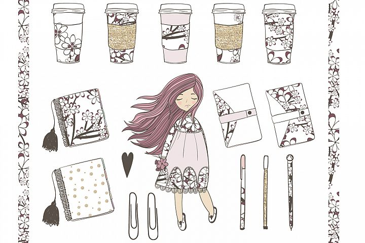 Planner Girl Clipart - Free Design of The Week Design 1
