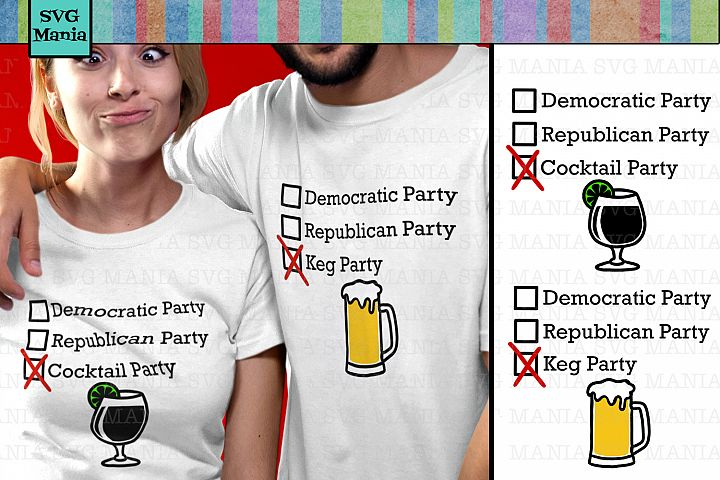 Funny Political SVG Bundle, Democrat and Republican SVG File