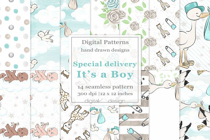Special Delivery Its a Boy - Digital Pattern